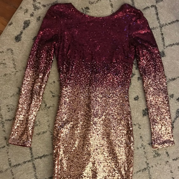 e5a064c2fa Wynn sequin ombré dress - burgundy gold